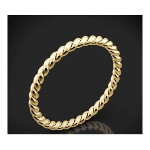 Класическа брачна халка изработена от 18к злато с широчина 2.0 мм и дебелина 2.0
