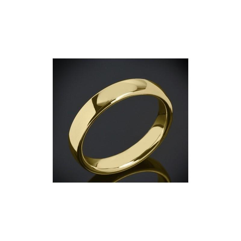 Класическа брачна халка изработена от 18к злато с широчина 4.5 мм и дебелина 2.0