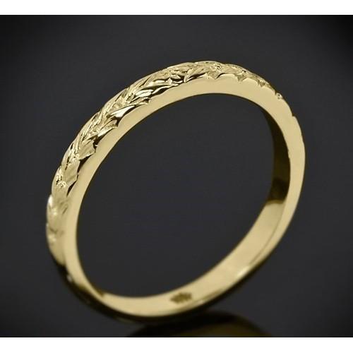 Класическа брачна халка изработена от 18к злато с широчина 2.5