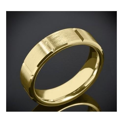 Класическа брачна халка изработена от 14к злато с широчина 6.0
