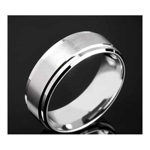 Класическа брачна халка изработена от 18к злато с широчина 7.5 мм и дебелина 2.0