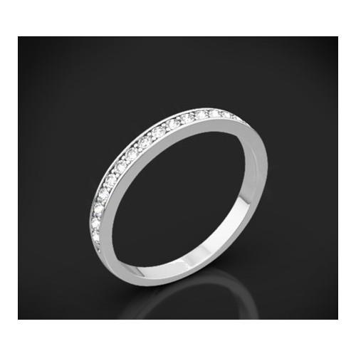 """Диамантена брачна халка от колекцията """"Звездно небе"""", изработена от 18к злато, с широчина 2,0 мм и 22 диаманта с общо тегло 0,25"""