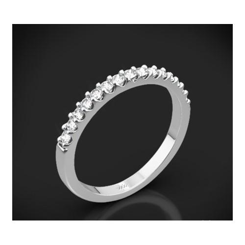 """Диамантена брачна халка от колекцията """"Звездно небе"""", изработена от 18к злато, с широчина 1,8 мм и 15 диаманта с общо тегло 0,27"""