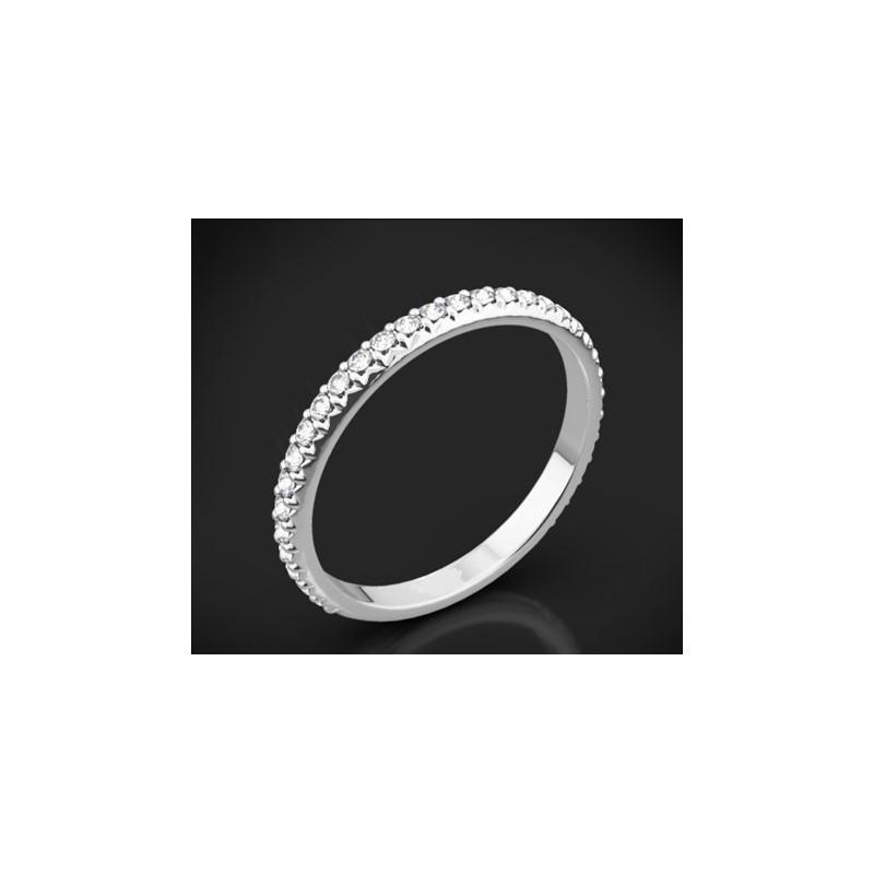 """Диамантена брачна халка от колекцията """"Звездно небе"""", изработена от 18к злато, с широчина 2,0 мм и 29 диаманта с общо тегло 0,43"""