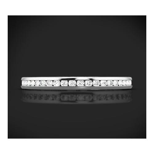 """Диамантена брачна халка от колекцията """"Звездно небе"""", изработена от 18к злато, с широчина 2,0 мм и 37 диаманта с общо тегло 0,30"""
