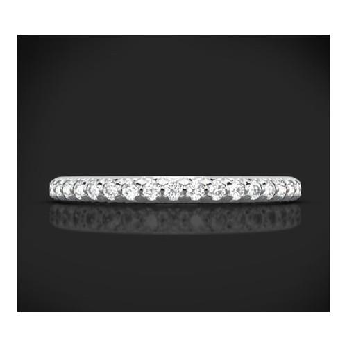 """Диамантена брачна халка от колекцията """"Звездно небе"""", изработена от 18к злато, с широчина 1,7 мм и 21 диаманта с общо тегло 0,21"""