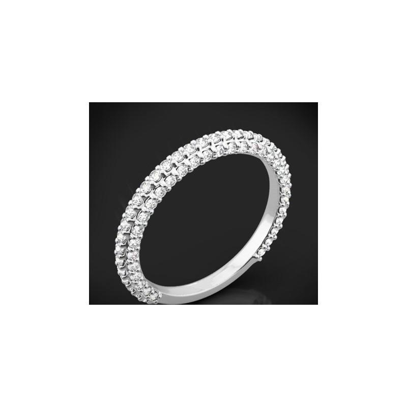 """Диамантена брачна халка от колекцията """"Звездно небе"""", изработена от 18к злато, с широчина 2,4 мм и 66 диаманта с общо тегло 0,40"""