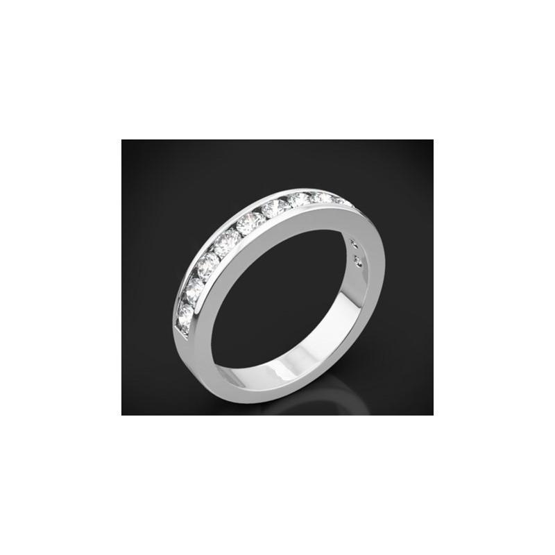 """Диамантена брачна халка от колекцията """"Звездно небе"""", изработена от 18к злато, с широчина 3,5 мм и 11 диаманта с общо тегло 0,55"""