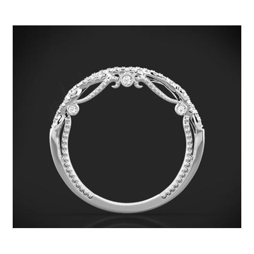"""Диамантена брачна халка от колекцията """"Звездно небе"""", изработена от 18к злато, с широчина 2,8-2,1 мм и диаманти с общо тегло 0,2"""