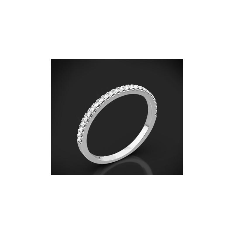 """Диамантена брачна халка от колекцията """"Звездно небе"""", изработена от 18к злато, с широчина 1,5 мм и 25 диаманта с общо тегло 0,17"""