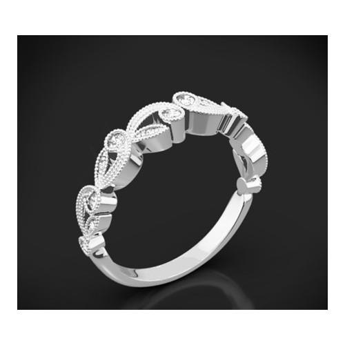 """Диамантена брачна халка от колекцията """"Звездно небе"""", изработена от 18к злато, с широчина 3,5 мм и 14 диаманта с общо тегло 0,15"""