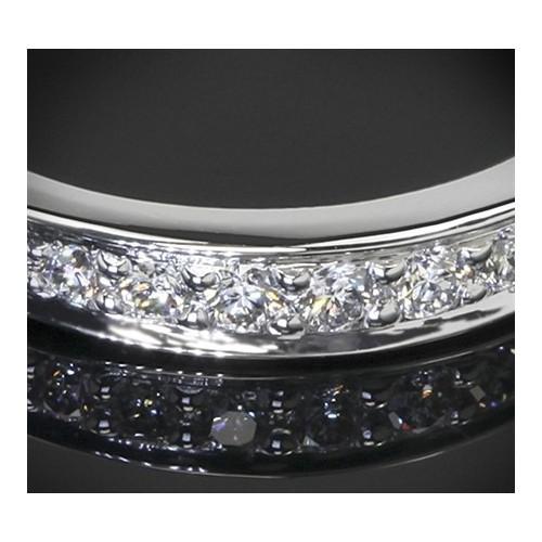 """Диамантена брачна халка от колекцията """"Звездно небе"""", изработена от 14к злато, с широчина 3,0 мм и диаманти с общо тегло 0,34 ct"""