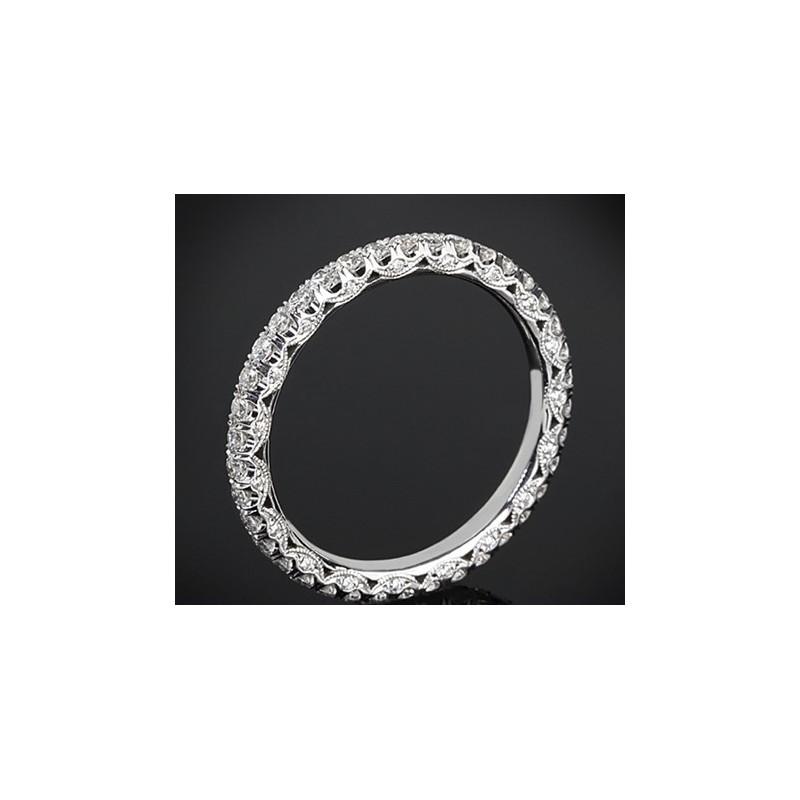"""Диамантена брачна халка от колекцията """"Звездно небе"""", изработена от 18к злато, с широчина 2,0 мм и 28 диаманта с общо тегло 0,68"""