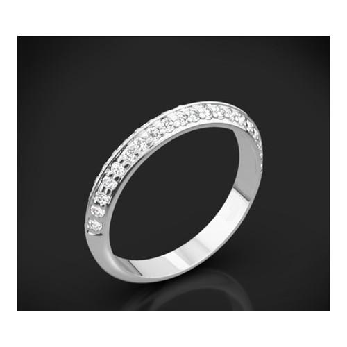 """Диамантена брачна халка от колекцията """"Звездно небе"""", изработена от 18к злато, с широчина 2,7-2,5 мм и 40 диаманта с общо тегло"""