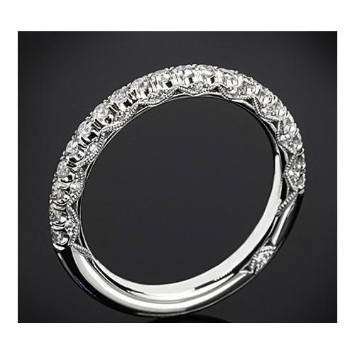 """Диамантена брачна халка от колекцията """"Звездно небе"""", изработена от 18к злато, с широчина 2,0 мм и 20 диаманта с общо тегло 0,37"""