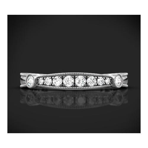 """Диамантена брачна халка от колекцията """"Звездно небе"""", изработена от 18к злато, с широчина 2,4 мм и 10 диаманта с общо тегло 0,17"""