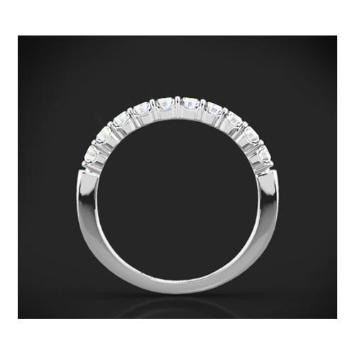 """Диамантена брачна халка от колекцията """"Звездно небе"""", изработена от 14к злато, с широчина 2,3-1,3 мм и 10 диаманта с общо тегло"""