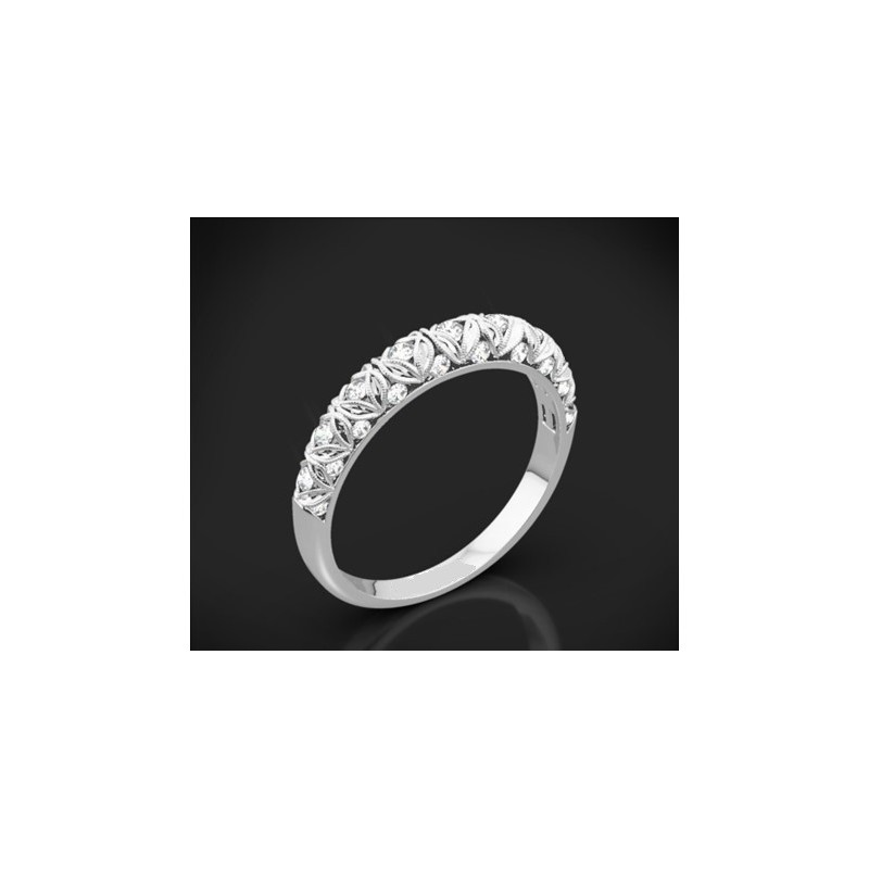 """Диамантена брачна халка от колекцията """"Звездно небе"""", изработена от 18к злато, с широчина 2,5 мм и 29 диаманта с общо тегло 0,32"""