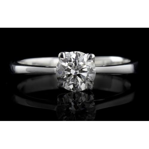 Пръстен 18К злато, с централен диамант по избор