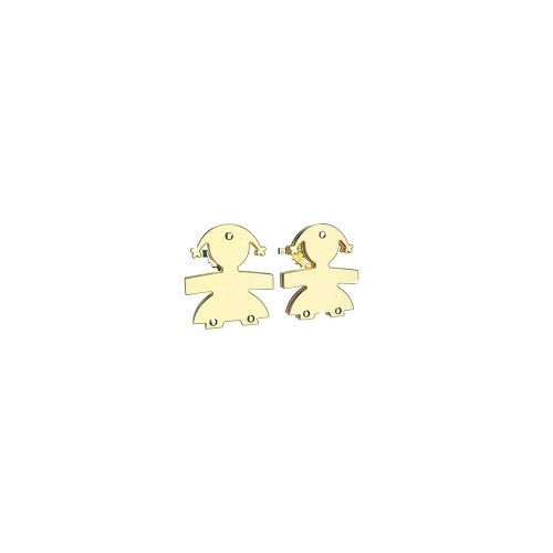 Earringd with a girl in 9K Yellow Gold.