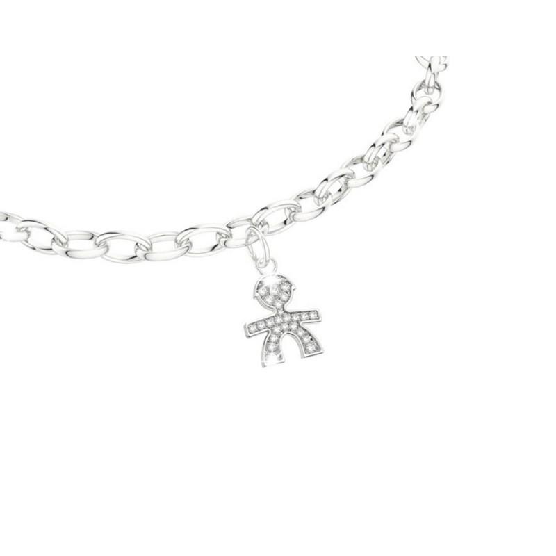 18K Bracelet in WG with diamonds 0.05ct