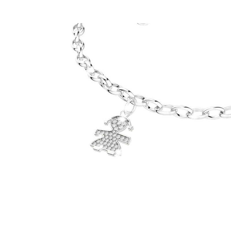 18K Bracelet in WG with diamonds 0.13ct