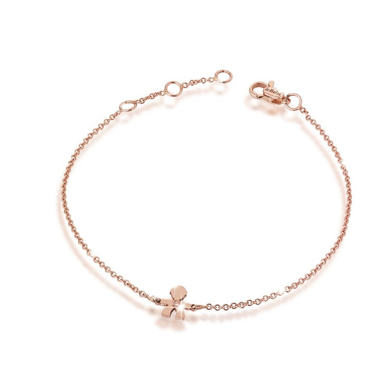 18K Bracelet in with PG with 0.003ct diamond