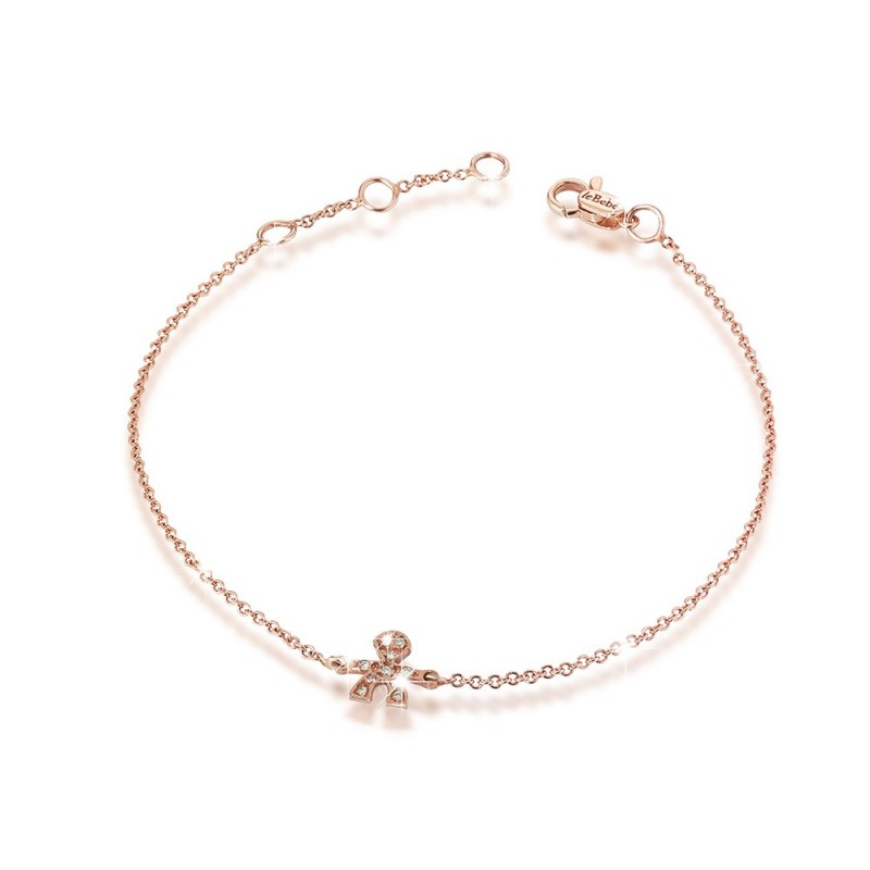 18K Bracelet in with PG with 0.03ct pave set diamond