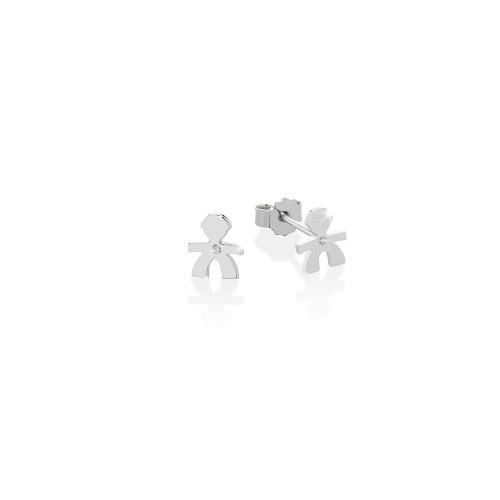 18K Earring in WG with 0.003ct diamond