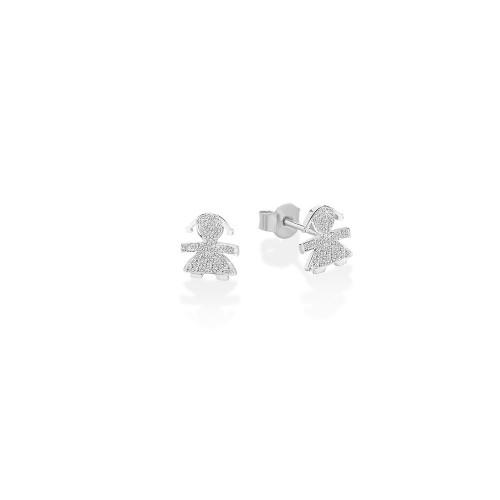 18K Earring in WG with 0.03ct diamonds