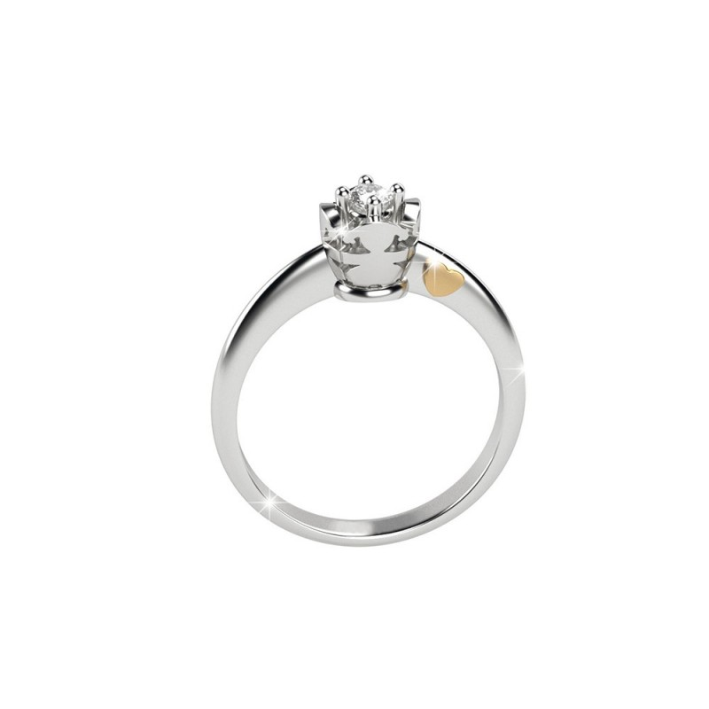 18K Ring Solitaire in WG with diamond