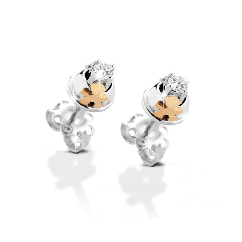 "18K WG Earrings ""CONTRARIE"" model with diamonds"