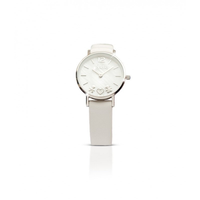 26 mm platinum finish case watch