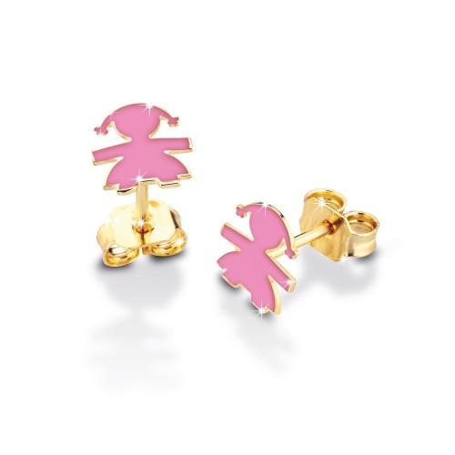 9K Earrings in YG