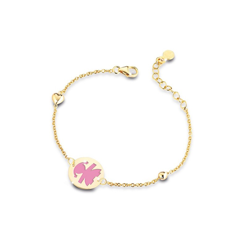 9K Girl  Bracelet in YG