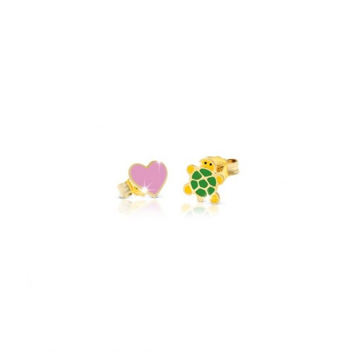 9k YG Earrings LUCKY for kids