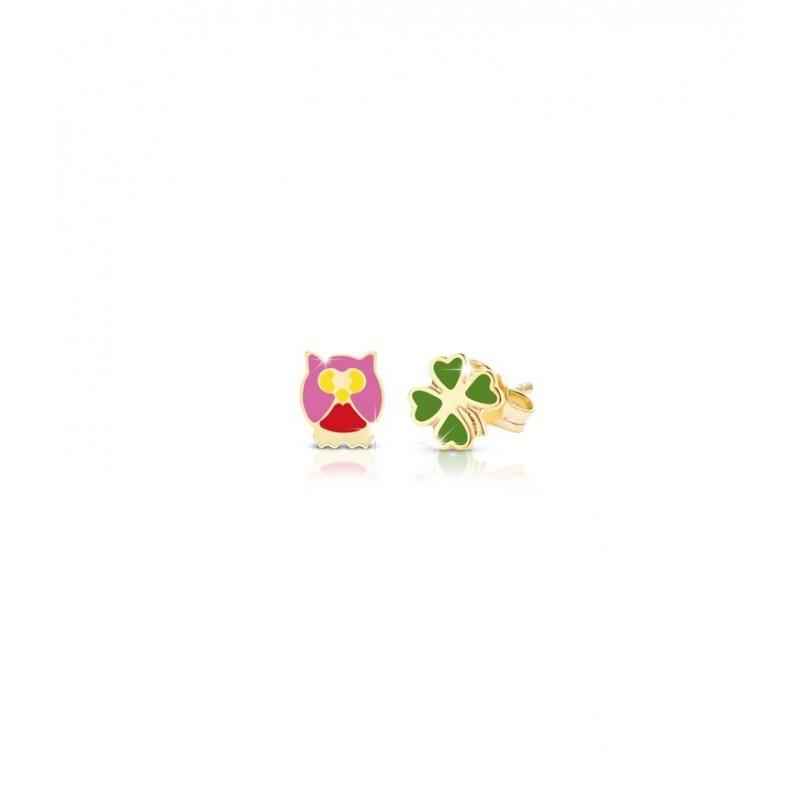 """9k YG Earrings 'LUCKY"""" for kids"""