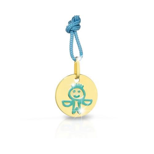 Детска златна висулка 9К зодия Везни