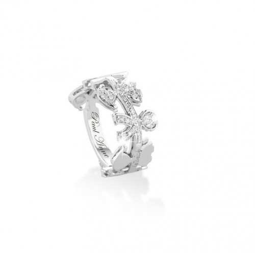 "18K WG ""GHIRLANDE"" Ring with diamonds"