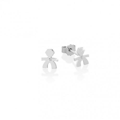 18K Earring in WG with 0.003ct diamond