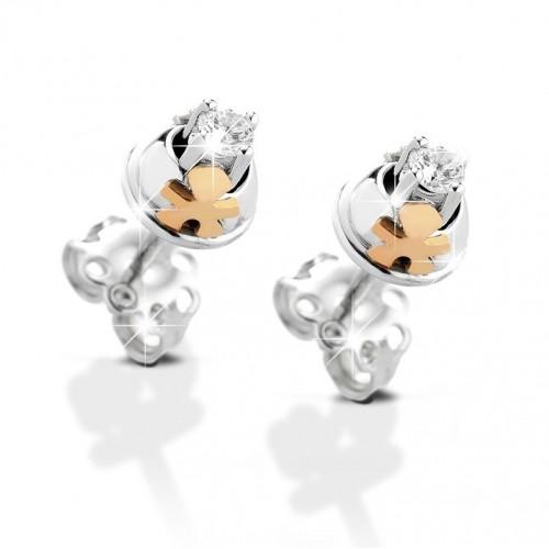 "18K WG Earrings ""CONTRARIE"" model with diamonds"
