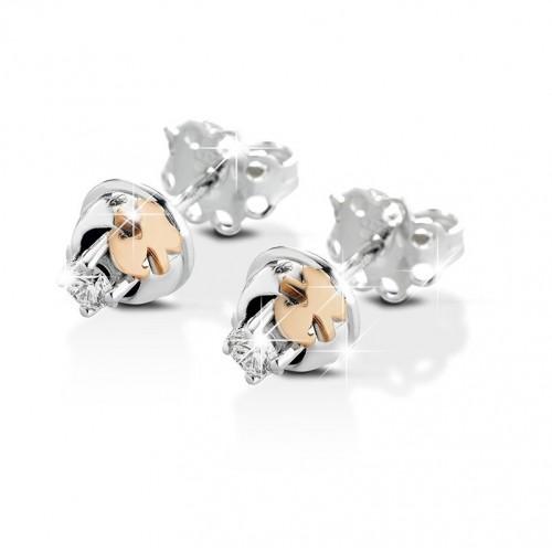 18K WG Earrings CONTRARIE model with diamonds