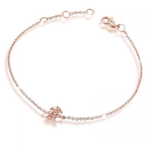 CRUMBS FEMALE BRACELET IN ROSE GOLD AND PAVÉ