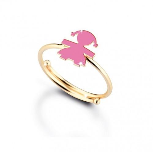 Детски пръстен от 9K жълто злато
