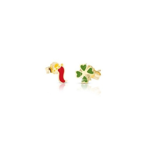 "9k YG Earrings 'LUCKY"" for kids"