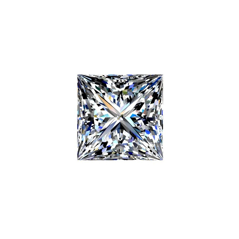 2,5 carat, PRINCESS Cut, color F, Diamond