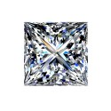 0,9 carat, PRINCESS Cut, color F, Diamond