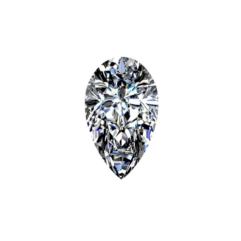 0,53 carat, PEAR Cut, color E, Diamond