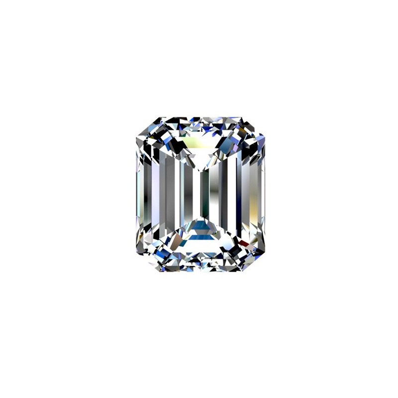 1 carat, EMERALD Cut, color H, Diamond