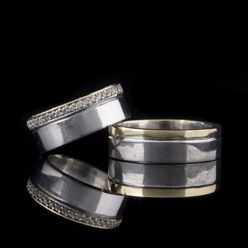 Комплект брачни халки модел R104